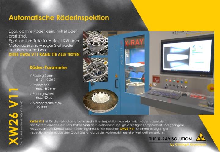 Räder Inspektionssysteme: automatische Räderinspektion